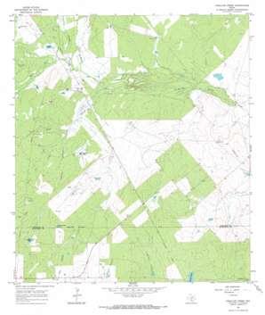 Caballos Creek USGS topographic map 28098f4
