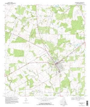 Jourdanton topo map