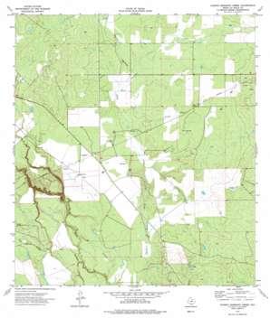Charco Marrano Creek topo map