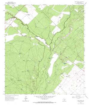 Halff Ranch topo map
