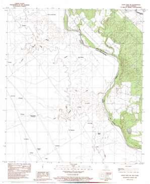 Eagle Pass Sw USGS topographic map 28100e4
