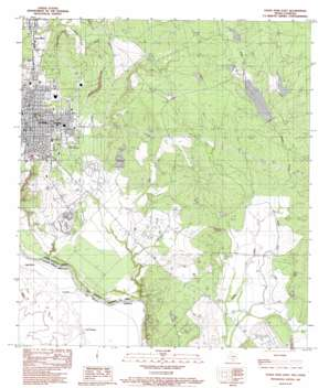 Eagle Pass East USGS topographic map 28100f4