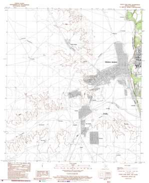 Eagle Pass West USGS topographic map 28100f5