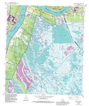 Belle Chasse USGS topographic map 29089g8