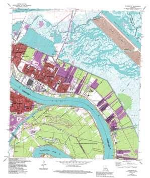 Chalmette USGS topographic map 29089h8