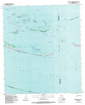 Timbalier Island USGS topographic map 29090a4