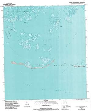 Central Isles Derniere topo map