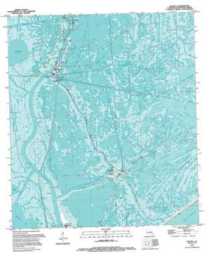 Leeville USGS topographic map 29090b2
