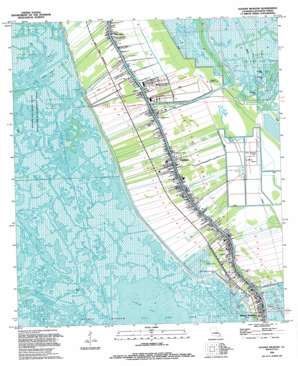 Golden Meadow topo map