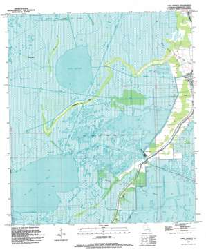 Lake Theriot topo map