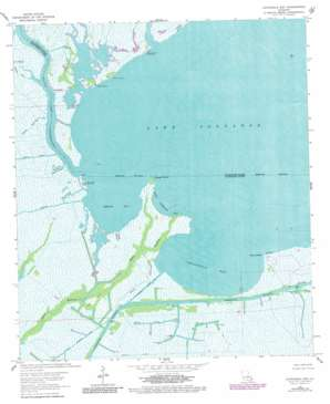Catahoula Bay USGS topographic map 29090f3