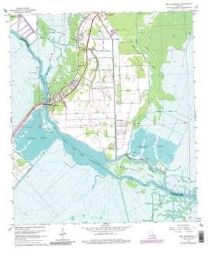 Des Allemands USGS topographic map 29090g4