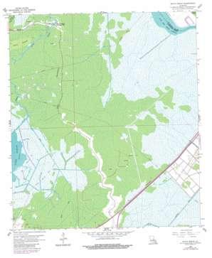 Bayou Boeuf topo map