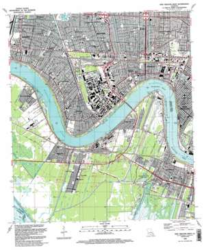 New Orleans West USGS topographic map 29090h2