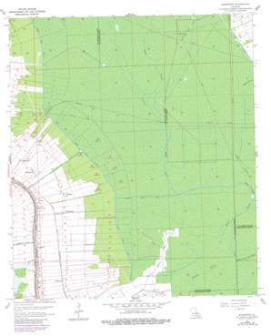 Madewood topo map
