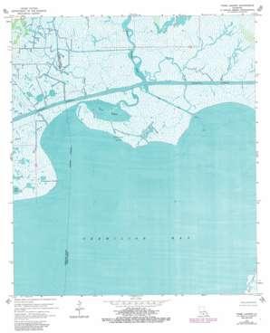 Tigre Lagoon USGS topographic map 29091g8