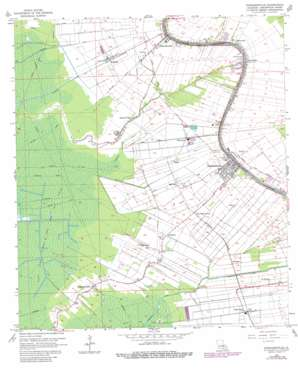 Napoleonville USGS topographic map 29091h1
