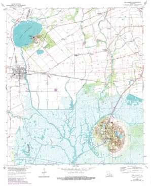 Delcambre USGS topographic map 29091h8