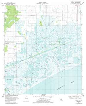 Hebert Lake topo map