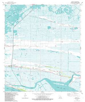 Creole USGS topographic map 29093g1