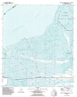 West Of Johnsons Bayou USGS topographic map 29093g7