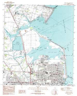 Texas City USGS topographic map 29094d8