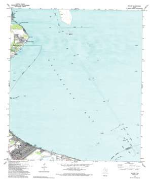 Bacliff topo map