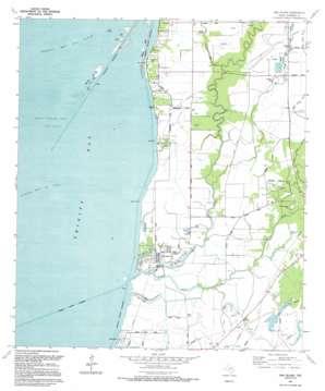 Oak Island topo map