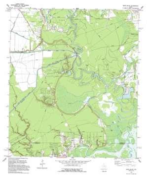 Moss Bluff topo map