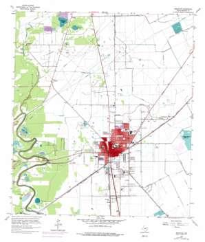 Angleton topo map