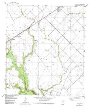Kendleton topo map