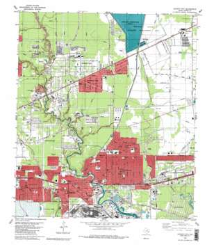 Jacinto City USGS topographic map 29095g2