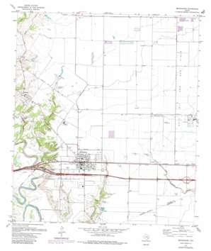 Brookshire topo map