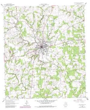 Hallettsville USGS topographic map 29096d8