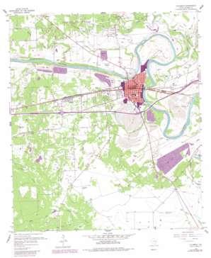 Columbus topo map