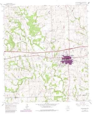 Schulenburg topo map