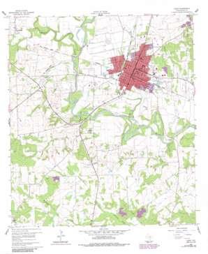 Cuero USGS topographic map 29097a3