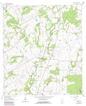 Ecleto USGS topographic map 29097a7
