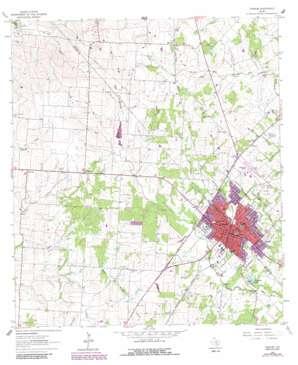 Yoakum USGS topographic map 29097c2