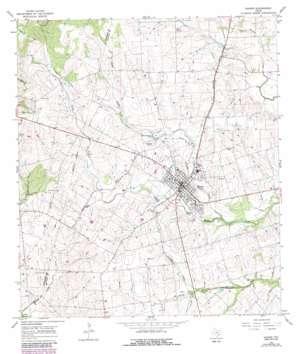 Shiner topo map