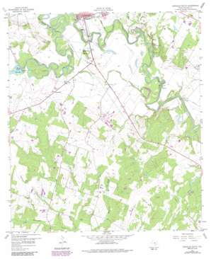 Gonzales South topo map