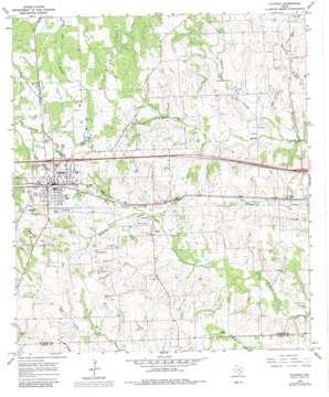 Flatonia USGS topographic map 29097f1