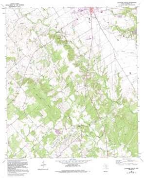Lockhart South topo map