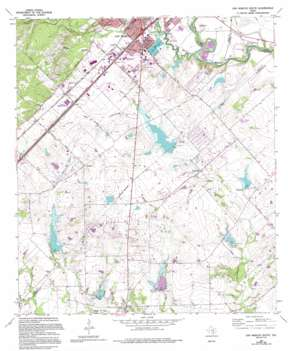 San Marcos South topo map
