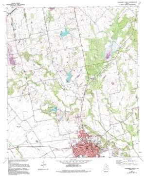 Lockhart North topo map