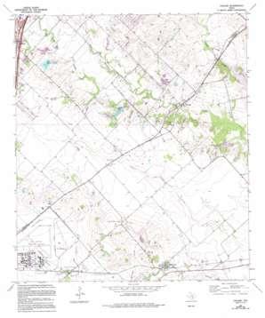 Uhland topo map