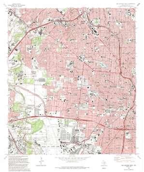 San Antonio West topo map