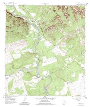 Chalk Bluff topo map