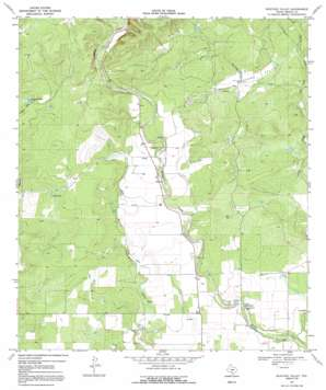 Mustang Valley topo map