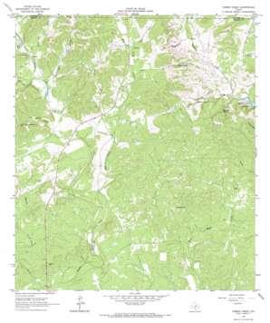 Timber Creek topo map